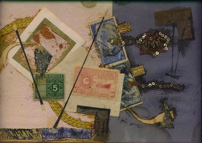Spangles, Mixed media collage.