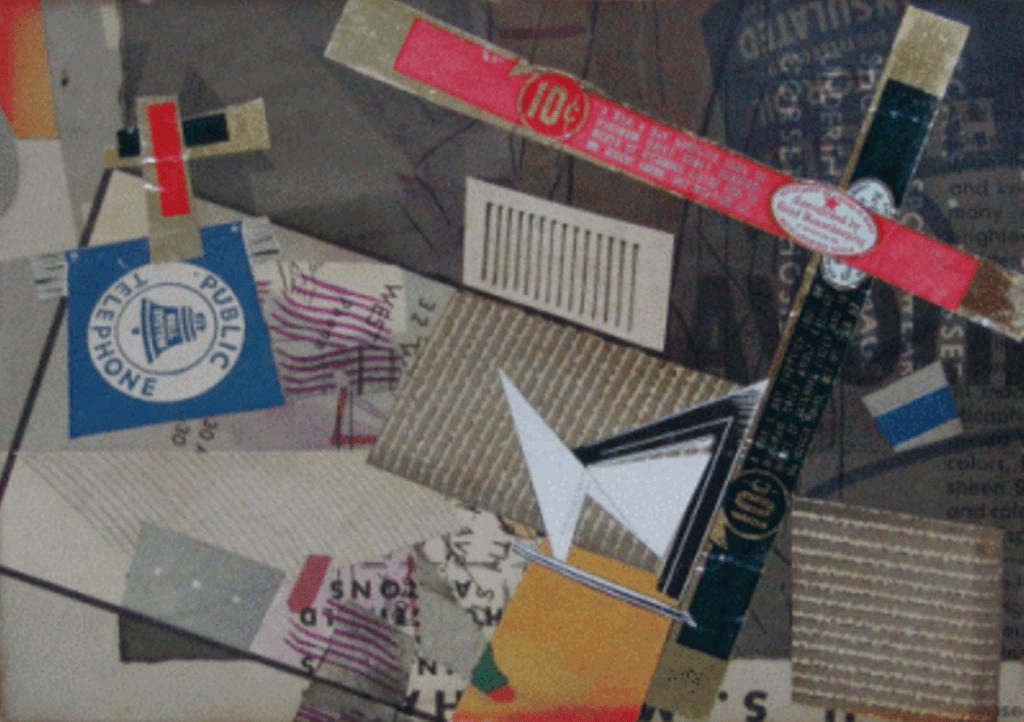 """Crossroads,"" 1948, paper and foil collage, Slobodkina Fondation"