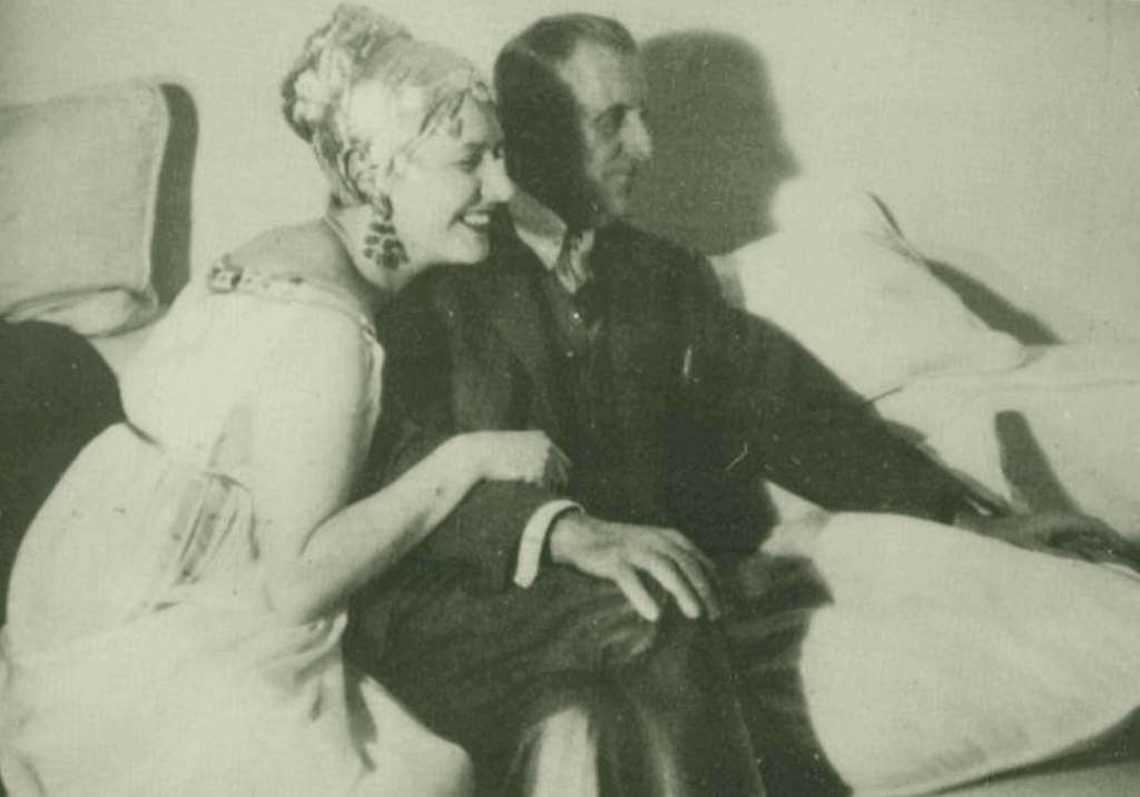 Slobodkina with William Urquhart at a costume ball, c. 1955.