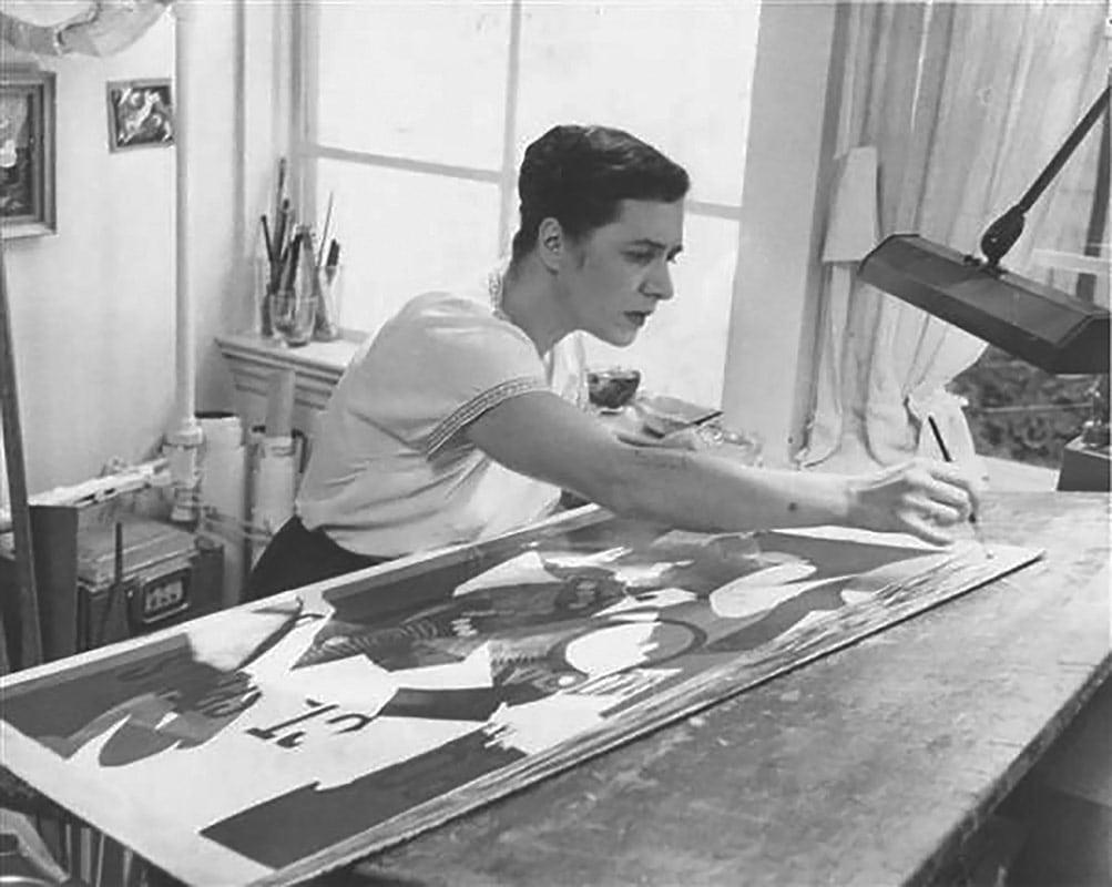Esphyr Slobodkina in her Great Neck studio.