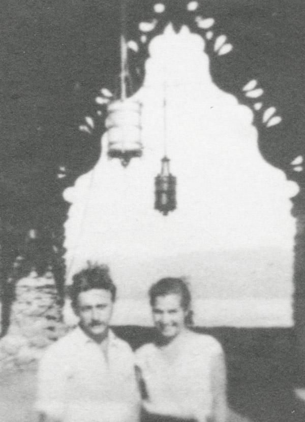Slobodkina with husband Ilya Bolotowsky at Yaddo, 1934.