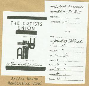 Slobodkina's Artists' Union membership card.