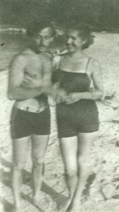 Slobodkina and Ilya Bolotowsky at the beach in Connecticut, ca. 1934.