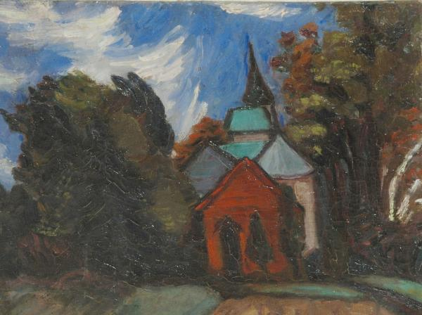 John Cheevers' Studio, Yaddo painting