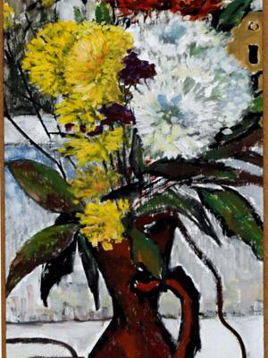 Paining of a Vase Chrysanthemums