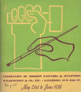 Brochure cover for 1942 Wildenstein & Co, Inc Galleries